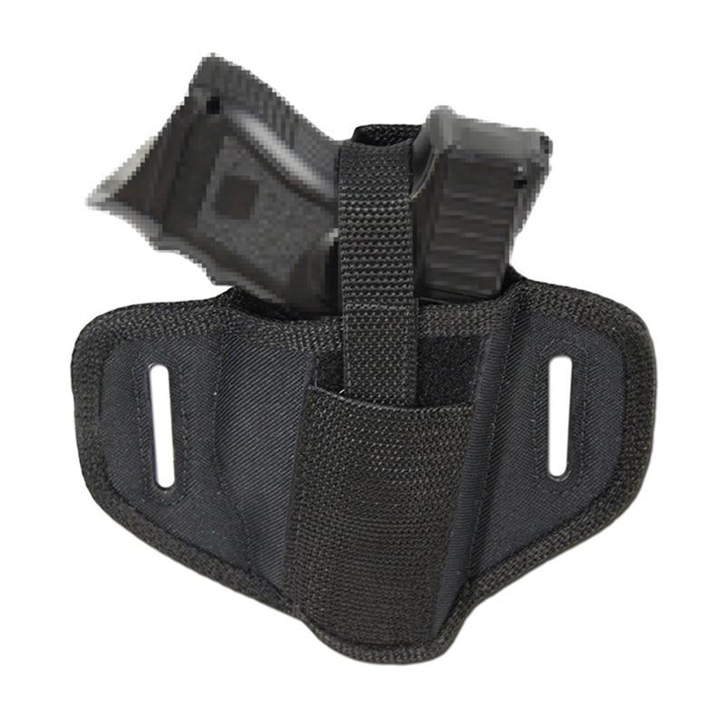 Tactical Concealed Handgun Belt Holster Waist Pouch Belt Handgun Pistol Holster Waist Pouch for Right / Left Hand Glock Airsoft