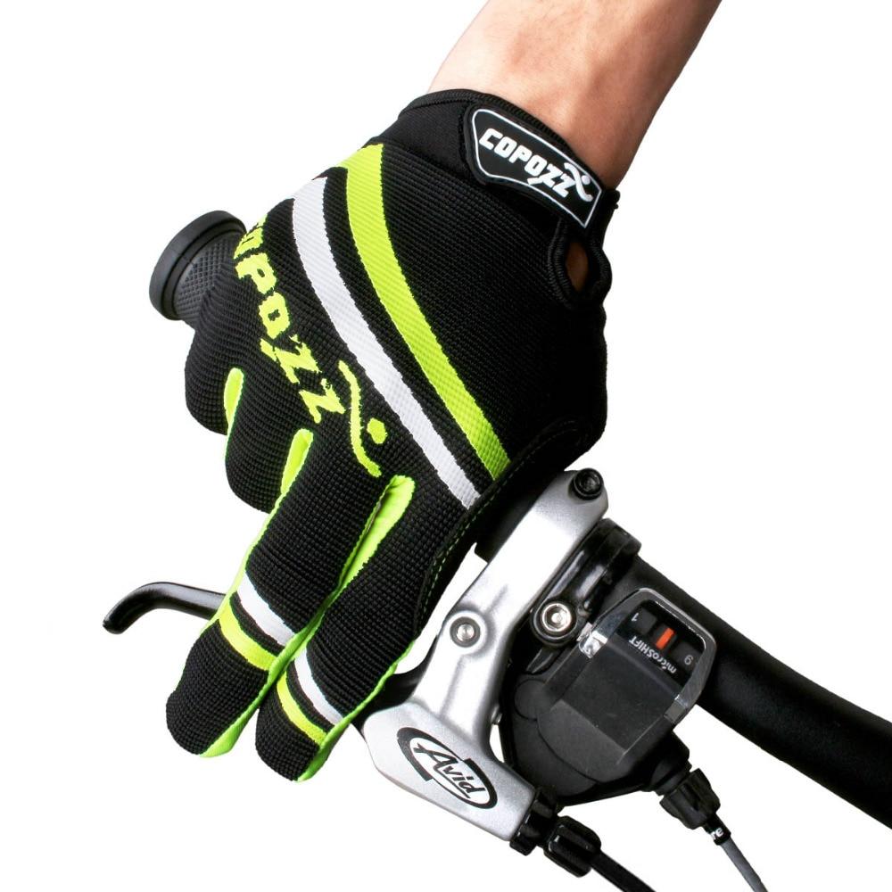 Copozz-Guantes de Ciclismo de dedo completo antideslizantes, a prueba de golpes, sensibles,...