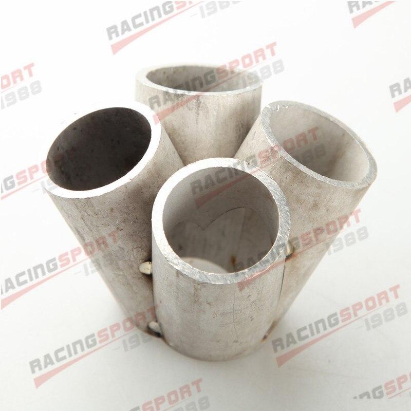 4-1 4 cilindro Manifold Header Mesclar Coletor de Aço Inoxidável T25 T28 Entrada