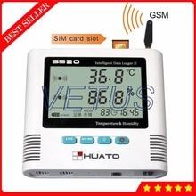 S520-TH-GSM 2 Kanal GSM Datenlogger Temperatur Feuchtedatenlogger mit USB Interne Sensor digital thermo-hygrometer