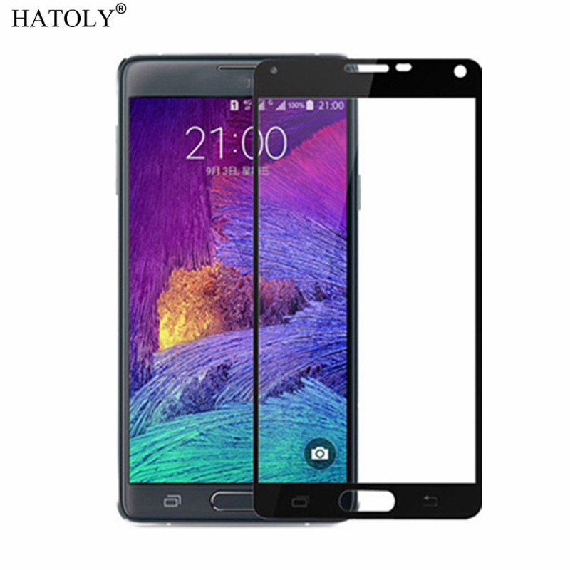 Vidrio Protector de pantalla de cobertura completa para Samsung Galaxy Note 4, vidrio templado Anti polvo para Samsung Galaxy Note 4