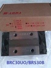 6pcs Original Taiwan ABBA BRC30UO/BRS30B Slider Block Linear Rail Guide Bearing for CNC Router Laser Machine 3D printer