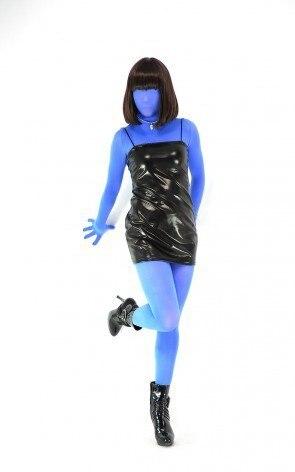 sky blue color velvet transparent sexy suit lycra spandex tights fetish zentai unisex suits classic halloween costumes