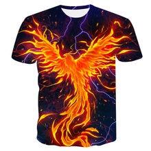 2019New 3D t-shirt Summer Fashion Men/women 3d Golden Phoenix Printing  t-shirt Male Tops Harajuku Tee Casual Printed t shirt