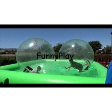 Bola para hámster inflable, piscina inflable Zorb Aquare, piscina inflable de PVC personalizada promocional para Bola De Agua