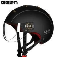 beon motorcycle half helmet vintage capacete retro motocicleta motorbike scooter summer casco for men women b 105