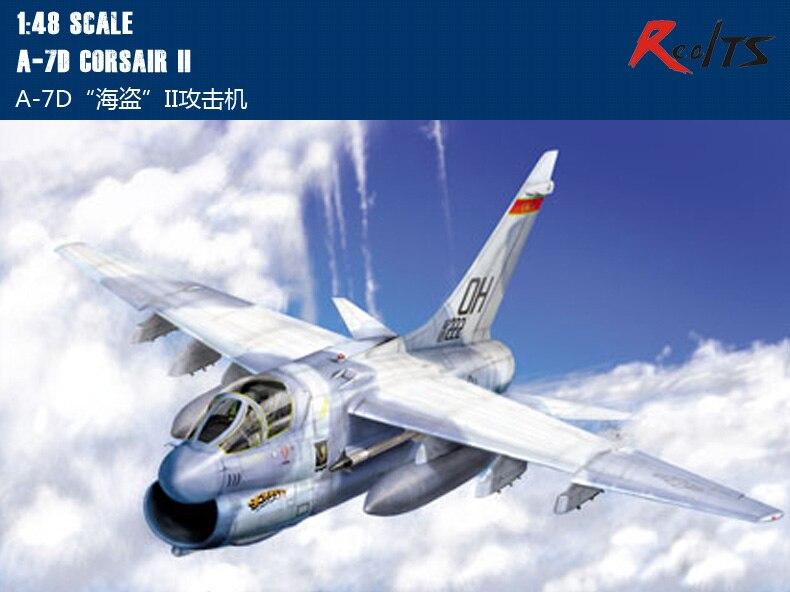RealTS HobbyBoss 1/48 80344 A-7D Corsair II Model Kit Hobby Boss