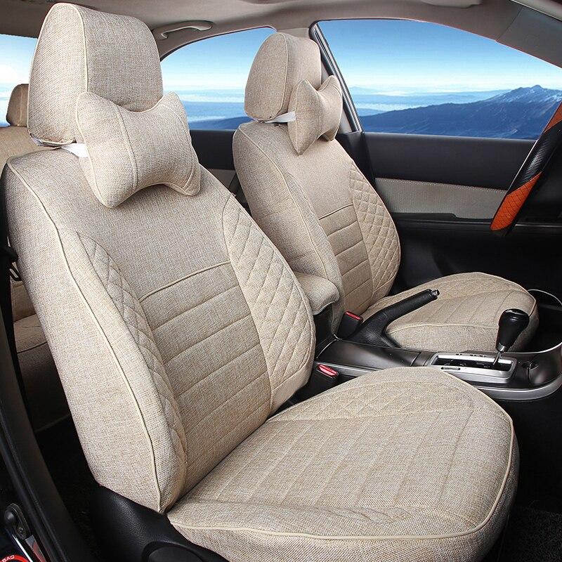 Accesorios de estilo de coche para Lotus L5 funda protectora para asiento de coche Lumbar negro cojín para asiento de coche soporta Lino conjunto de fundas de asiento de coche
