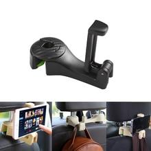 Crochets universels pour appuie-tête de voiture   Crochets pour siège de voiture avec support pour téléphone, cintre pour accrocher sac, sac, tissu, épicerie 1 pièces