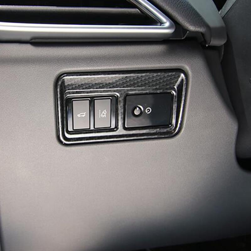 ABS cromo puerta trasera interruptor de Control de embellecedor de Panel de botones de estilo para Jaguar XF XE XFL F-PACE 2016, 2017, 2018