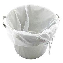 2 Size Milk Nylon Mesh Food Strainer Reusable Nut Tea Milk Fruit Juice Filter Bag Coffee Mesh Bag Net Kitchen Accessories