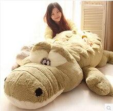 새로운 도착 200cm 귀여운 동물 큰 크기 시뮬레이션 악어 피부 플러시 장난감 쿠션 베개 장난감 여자 아이 장난감