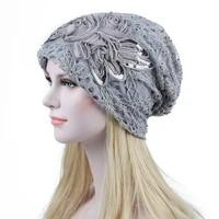 fashion ladys lace flower bonnet caps hollowed out lace bonnet femme comfortable casual hats beautiful gift