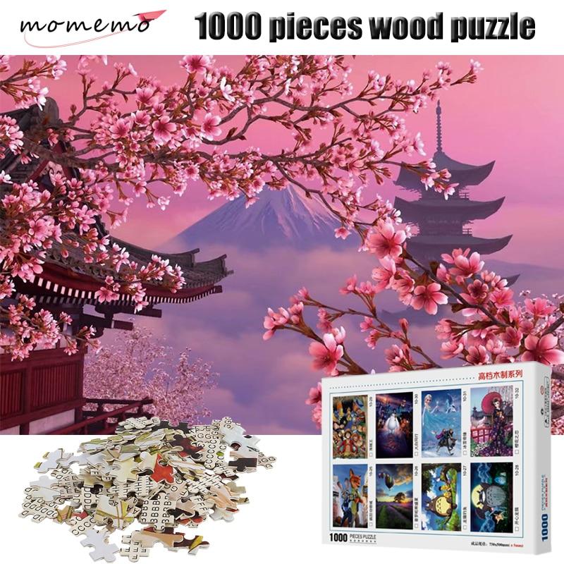 Пазл MOMEMO из 1000 деталей, пазл для взрослых с изображением цветущего вишневого пейзажа, деревянные пазлы высокой четкости из 1000 деталей, пазлы... пазлы 1000 деталей сладости в венеции