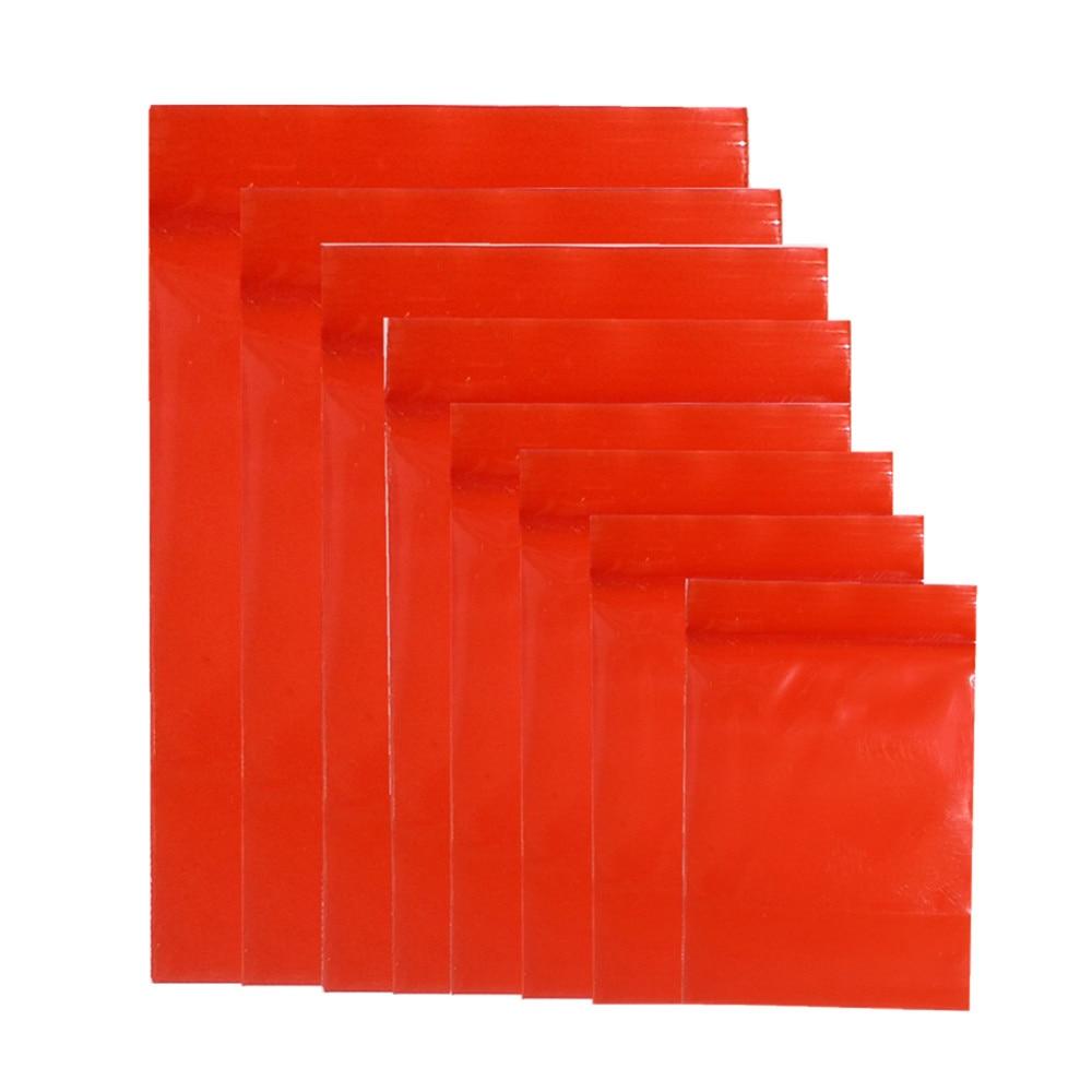 3000 Pcs A Granel Pacote Zip Lock Saco de Comida De Plástico Vermelho Porca Chá de Embalagem Ziplock Reclosable Bolsa de Varejo Saco de Embalagem Com Zíper 10 tamanhos