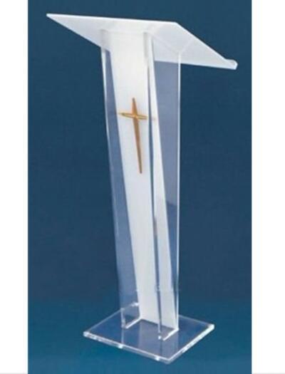 Акриловая подставка из оргстекла, трибуна с крестообразной искусственной речью с перекрестными стойками