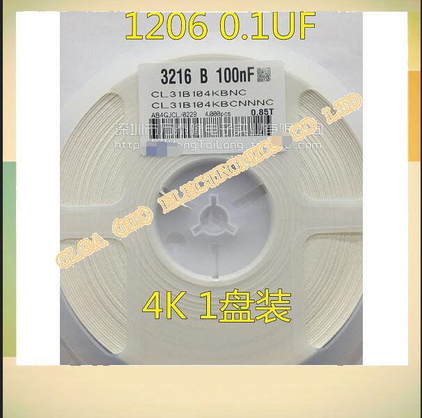 1206 1206nf (0,1 UF 1206 k) 50v SMD capacit/platte Genauigkeit 20%