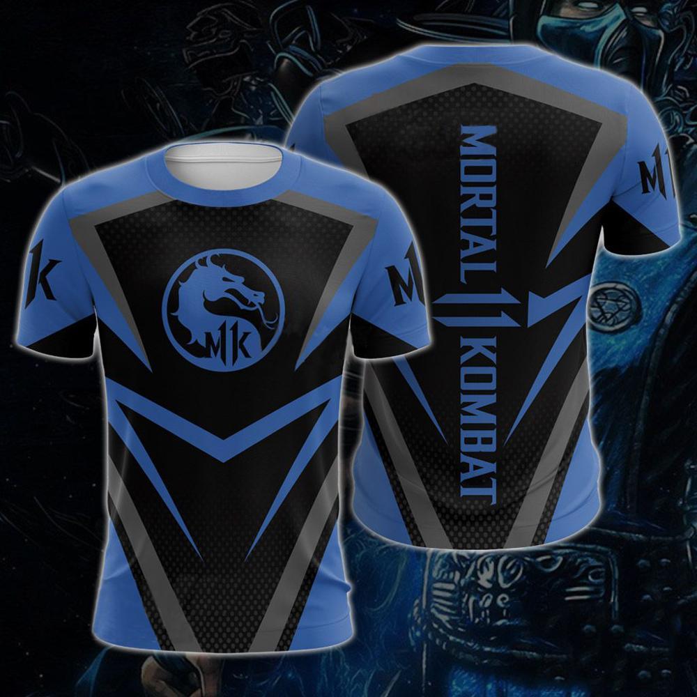 Jogo mortal kombat 11 3d manga curta camiseta masculina impressão mortal kombat 11 t camisas 2019 moda topos t