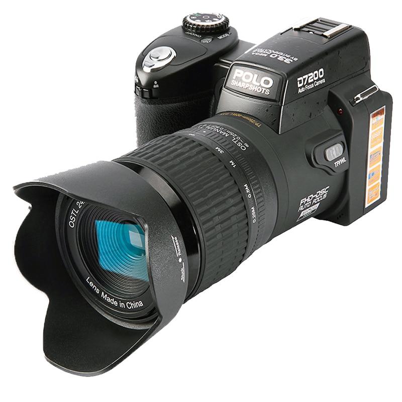 D7200 fotocamere digitali 13MP fotocamere REFLEX digitali 24X Telephotos Lens & 8X zoom Digitale Obiettivo Grandangolare HA CONDOTTO Il Riflettore