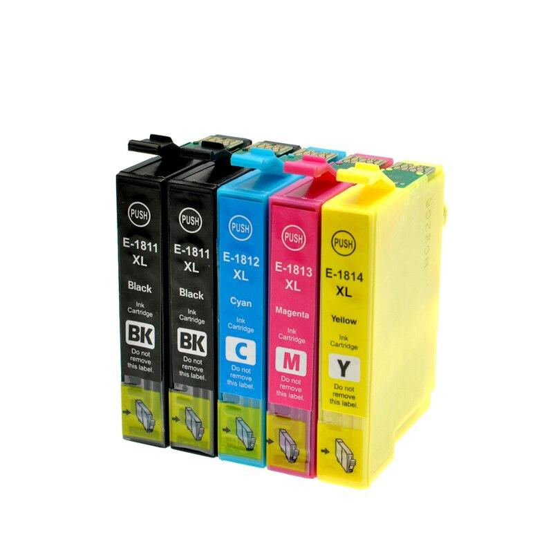 Vilaxh T1811-T1814 cartucho de tinta para EPSON XP212 XP215 XP225 XP312 XP315 XP412 XP415 XP202 XP205 XP302 XP305 XP402 XP405 impresora