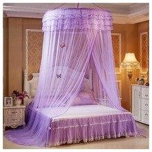 Moustiquaire de dôme suspendu romantique   Nouveau, lit à insectes de princesse pour étudiants, auvent en dentelle, rideau rond de moustiquaires, vente
