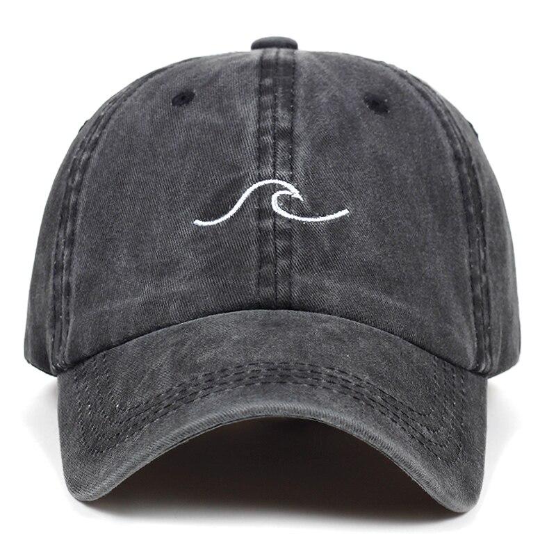 Шляпа для папы с волнистой полоской, хлопчатобумажная, с вышивкой, для мужчин, в стиле хип-хоп, snapback, кепка для спорта на море