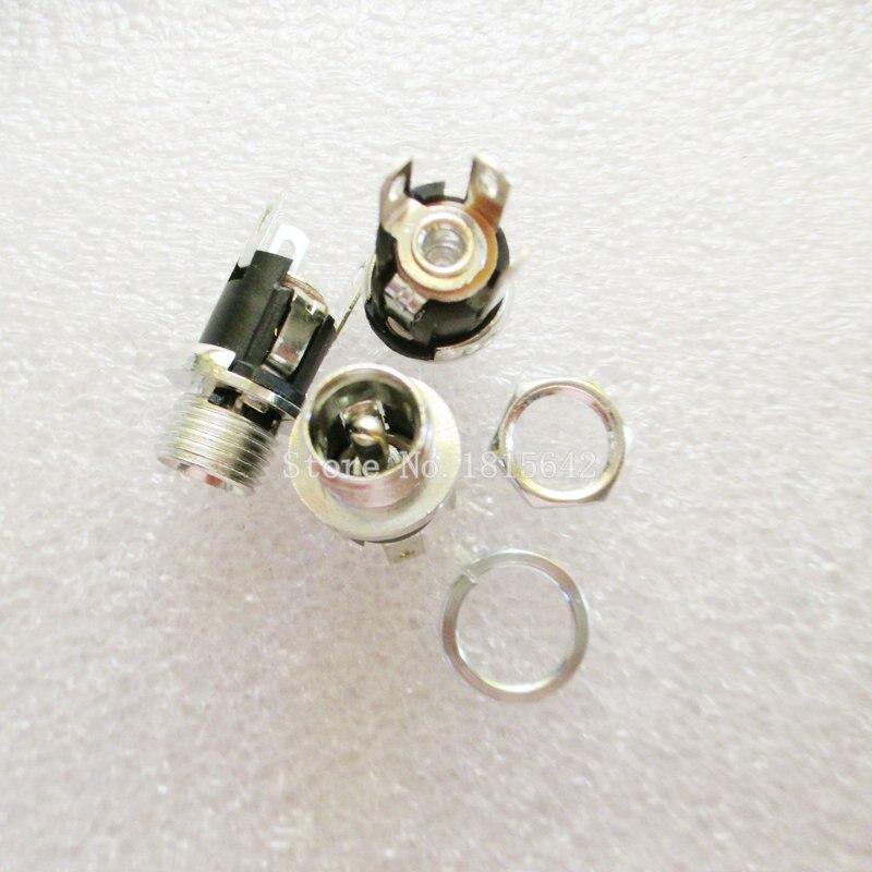 10 PÇS/LOTE Alta Qualidade DC-053A Plug DC 5.5-2.1 DC Tomada Fêmea Com Porca