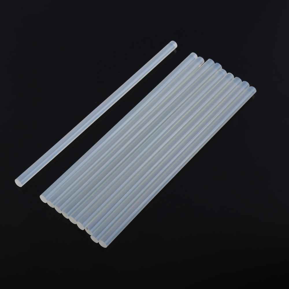 10Pcs/lot Clear 11mm Hot Melt Glue Sticks For Electric Glue Gun DIY Stick 27cm length DIY Craft Album Repair Rod Melt Adhesive