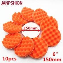 JANPSHION 10 PC 150mm vague éponge voiture polisseuse tampons tampon de polissage brut tampon de polissage 6