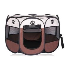 Портативная складная палатка для питомцев, домик для собак, клетка для кошек и собак, манеж для щенков, питомник, восьмиугольный забор прост...