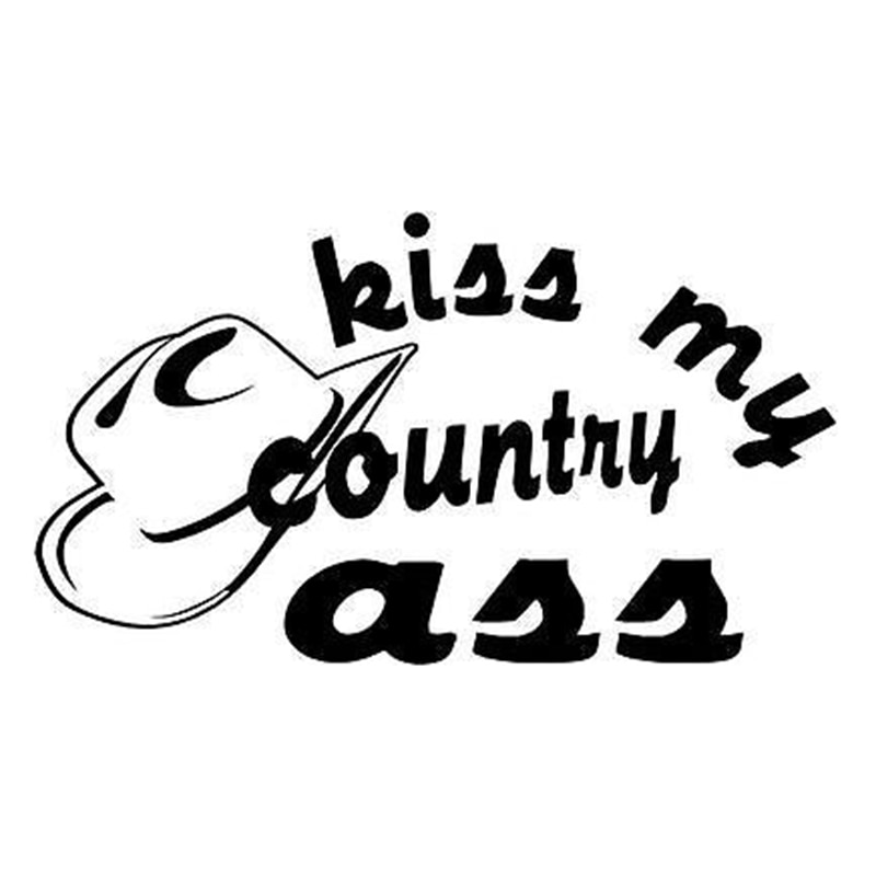 15*8,5 cm Kiss My Country Ass Western motocicleta parachoques para SUVs coche ventana Laptop vinilo pegatina