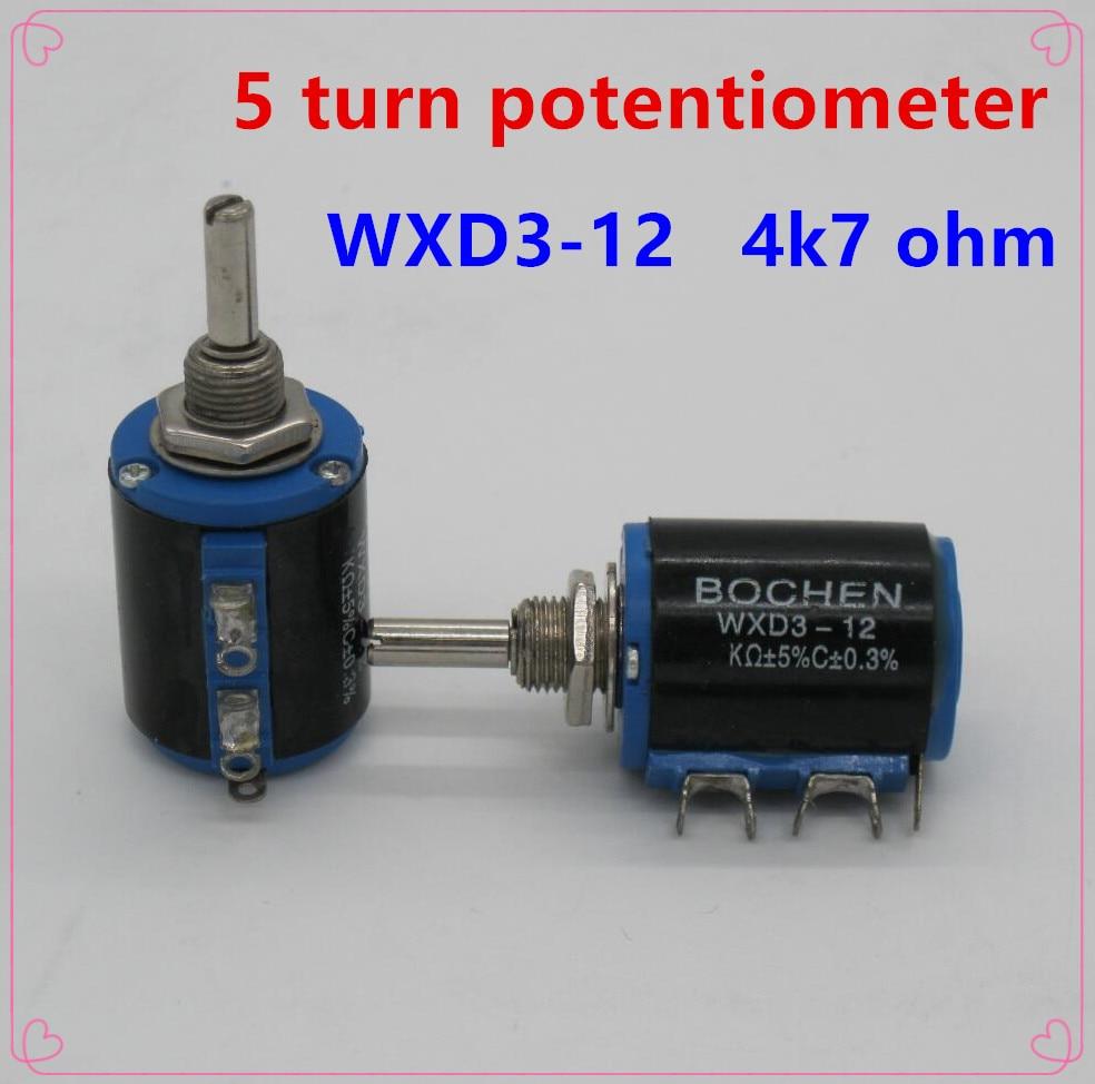 20PCS WXD3-12 2W 4K7 ohm WXD3-12-2W 4.7K 5 ring multi-circle precision wire-wound potentiometer