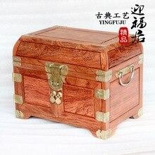 Caja para cosméticos con espejo de madera Huali de Brasil, regalos de boda, decoración de hogar
