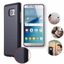 for Samsung Galaxy Note 9 8 S10 Plus S10e S9 S8 S7 edge Case Anti Gravity Cover Nano Magic Stick Mirror Glass Wood Panel
