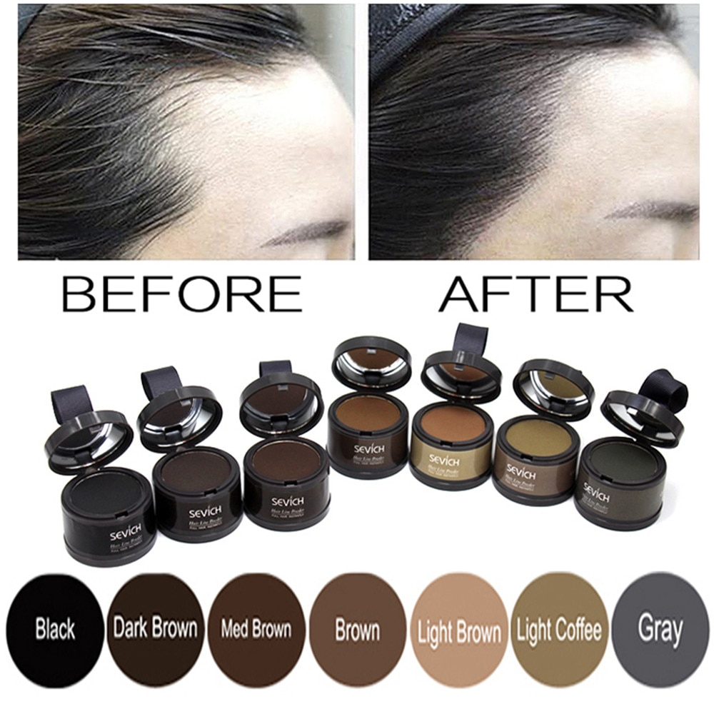 Natural Hair Shadow Powder Hair line Modified Repair Hair Shadow Trimming Powder Makeup Hair Conceal