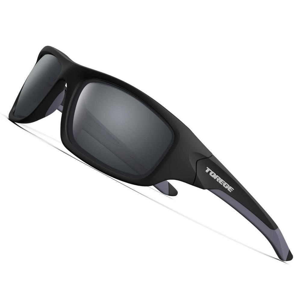 2019 New Polarized Sports Sunglasses for Men Women Running Fishing Golf TR90 Unbreakable Frame TR011 -Upgrade Goggle Black