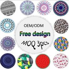 OEM/ODM Printing MOQ 3pcs  150cm Microfiber Round /Circle Beach Tapestry Towels With Tassel Toalla Playa Serviette De Plage