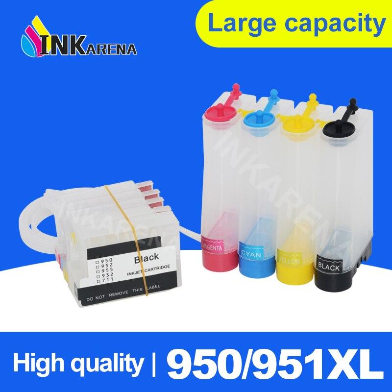 Cartucho de tinta vacío Ciss para impresora HP 950 951 para HP950 para sistema de tinta HP951 Officejet 8100 8600 8610 8620 8630ect 251dw 276dw
