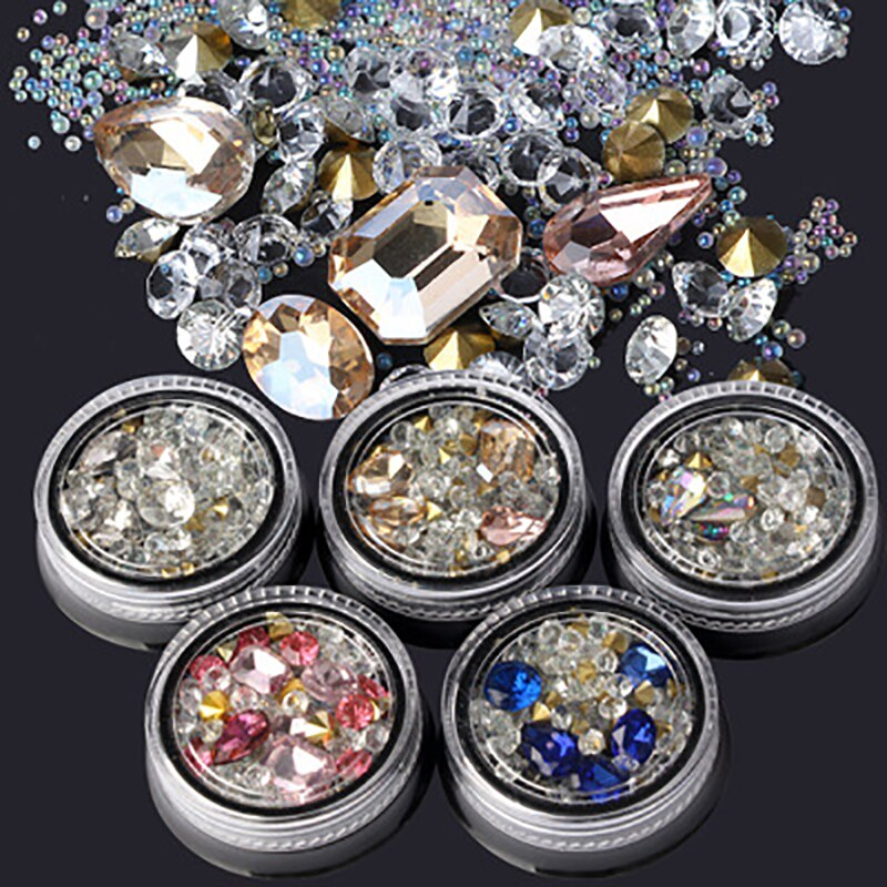 Accesorios de decoración de uñas 3d, Diamantes de imitación, Ozdoby Do Paznokci...