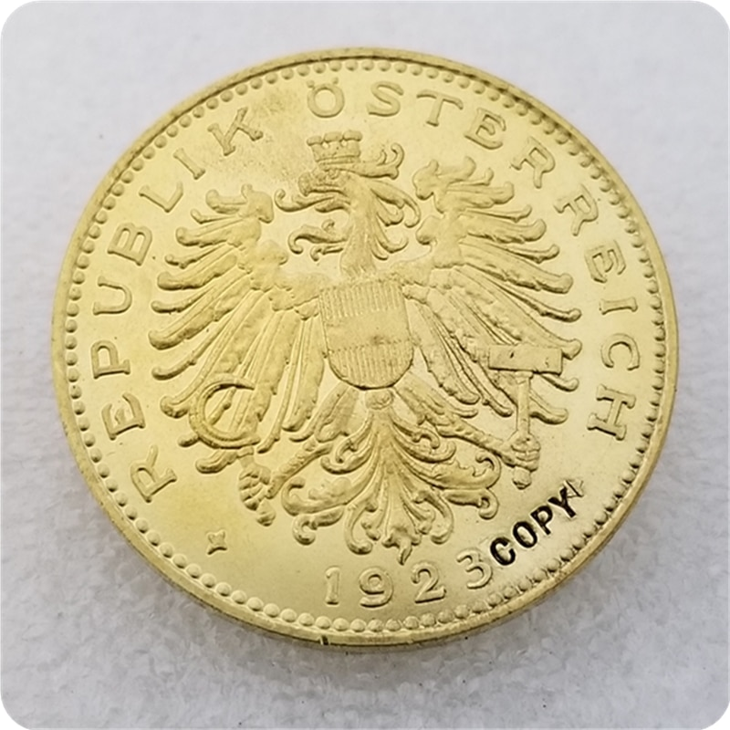 Copia réplica 1923,1924 Austria 100 Kronen copia moneda