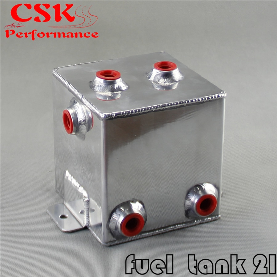 2L Universele Aluminium 2 Liter Swirl Pot 2L Brandstof Gepolijst Lichtmetalen Surge Tank