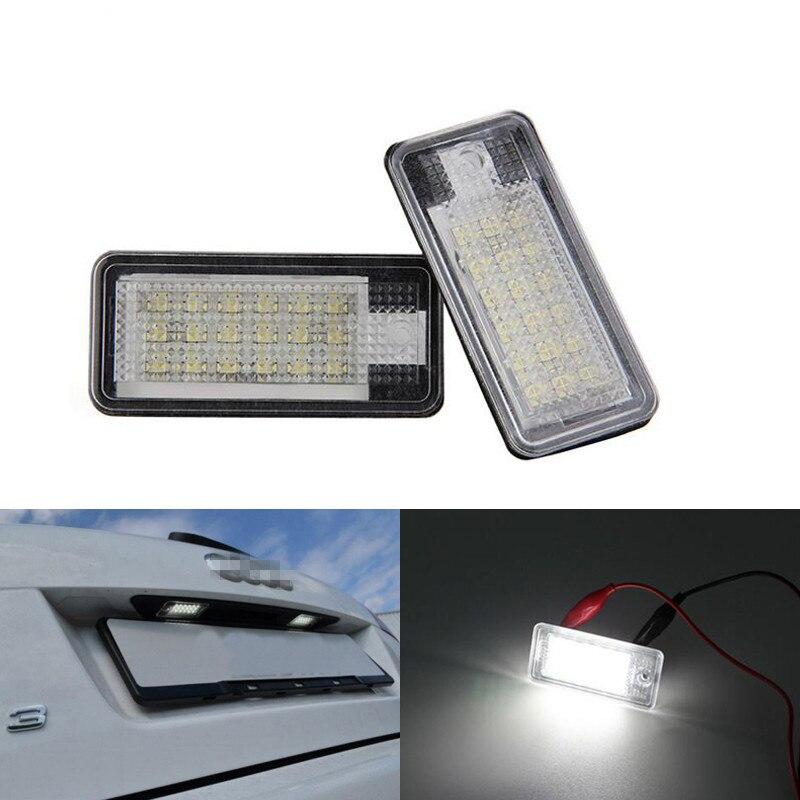 Blanco libre de Error de las luces de la matrícula para audi a3 S3 8P Q7 A4 S4 B6 B7 A6 S6 C6 4F