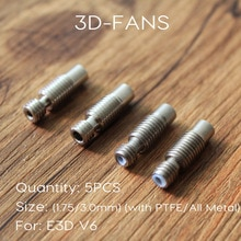 5 pièces E3D V6 Coupure De Chaleur Hotend La Gorge Pour 1.75mm 3.0mm Tout en Métal/DE PTFE En Acier Inoxydable Alimentation À Distance Tubes