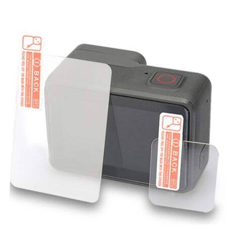 Protetor de vidro temperado capa para gopro go pro hero7 hero6 herói 5/6/7 preto lente da câmera frontal tela lcd película protetora
