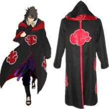 Offre spéciale Anime Naruto Akatsuki /Uchiha Itachi Cosplay Halloween fête de noël Costume Cape