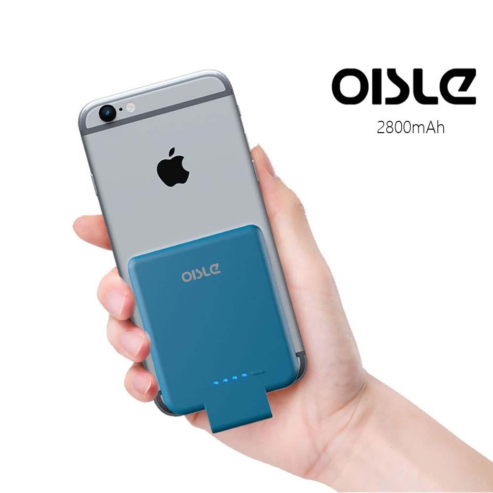 2800mAh High-Speed-Portable Ladegerät Für iPhone 7 6 6s 8 Plus Power Bank Ultra Dünne Lade fall Externe Backup Batterie Fall