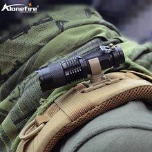 AloneFire LC-10 미니 손전등 회전 U 링 클립 전술 배낭 부착 스트랩 배낭 행거 마운트