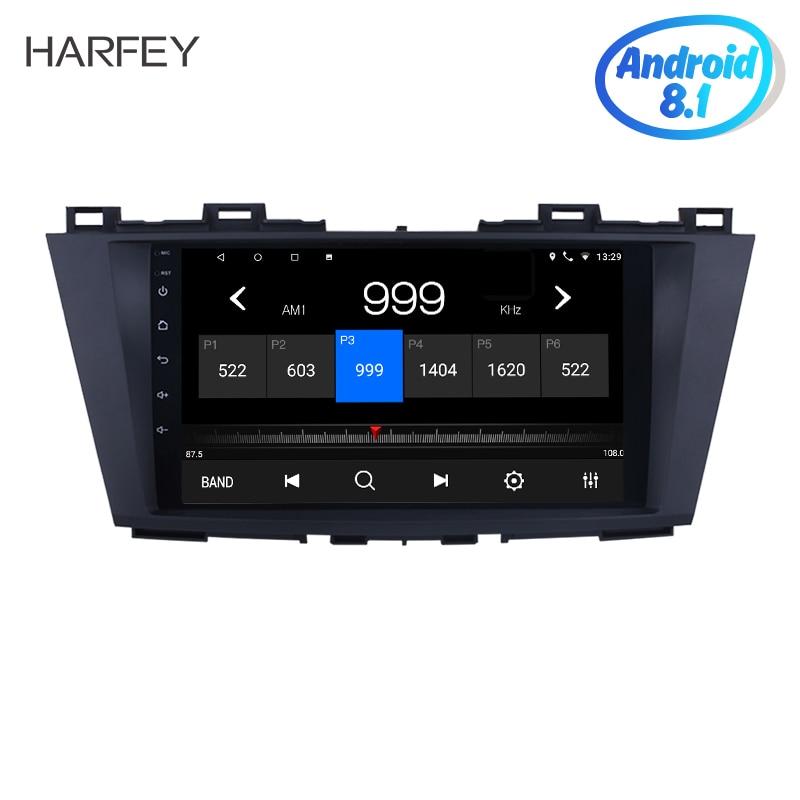 Harfey 1024*600 9 zoll Auto Multimedia Player Android 8.1 GPS Navigation System für 2009 2010 2011 2012 Mazda 5 mit Digital TV