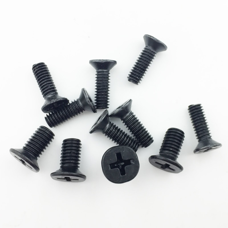 Vis à tête plate en acier au carbone M2 M2 M2 5. 5 M3 M3 * 4 M3 * 5 M3 * 6, 200 pièces par lot