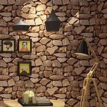 Papier peint mural Vintage imperméable   Décoration De maison, Imitation 3D pierre De roche, papier peint en vinyle pour murs, Papel De paréo 3D